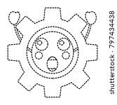 suprised gear kawaii icon image