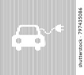 eco electric car sign. vector.... | Shutterstock .eps vector #797435086