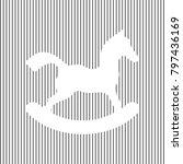 horse toy sign. vector. white... | Shutterstock .eps vector #797436169