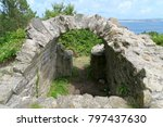 old arc in parc of morgat ... | Shutterstock . vector #797437630