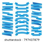set of blue ribbon vector  | Shutterstock .eps vector #797437879
