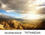 afternoon sun in the andes of... | Shutterstock . vector #797448244