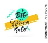 big graphic set of seasons sale ... | Shutterstock .eps vector #797449978