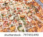 background pizza. sold in your... | Shutterstock . vector #797451490