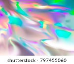 holographic rainbow foil... | Shutterstock .eps vector #797455060