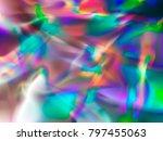 holographic rainbow foil... | Shutterstock .eps vector #797455063