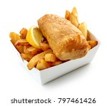 fish and chips box isolated on... | Shutterstock . vector #797461426