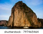 sailing into  koh koi beach | Shutterstock . vector #797465464