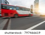 motion blurred car go through... | Shutterstock . vector #797466619