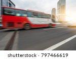 motion blurred car go through... | Shutterstock . vector #797466619
