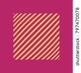 square on fuchsia background... | Shutterstock .eps vector #797470078