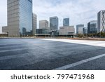 empty road with modern business ... | Shutterstock . vector #797471968