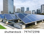 solar and modern city skyline... | Shutterstock . vector #797472598