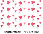 pink shape of hearts flying... | Shutterstock .eps vector #797475400