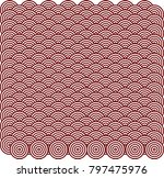 chinese pattern template | Shutterstock .eps vector #797475976
