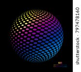 three dimensional sphere... | Shutterstock .eps vector #797478160
