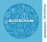 blockchain business set icons | Shutterstock .eps vector #797479714