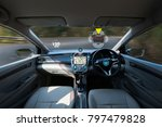 autonomous driving car and... | Shutterstock . vector #797479828