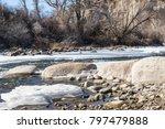 winter mountain river | Shutterstock . vector #797479888