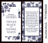 romantic invitation. wedding ... | Shutterstock .eps vector #797480068
