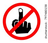 no fuck finger sign icon ... | Shutterstock .eps vector #797480158