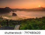 landscape of phu  lang ka  the... | Shutterstock . vector #797480620