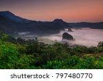 landscape of phu  lang ka  the... | Shutterstock . vector #797480770