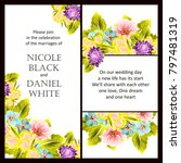 invitation with floral... | Shutterstock . vector #797481319