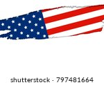 usa or america flag isolated on ... | Shutterstock .eps vector #797481664
