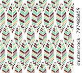 vector symmetrical leaves... | Shutterstock .eps vector #797483659