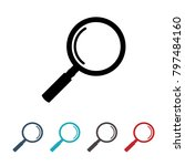 magnifying icon. eps10 | Shutterstock .eps vector #797484160