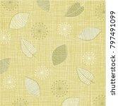 lovely linen textured weave... | Shutterstock .eps vector #797491099