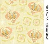 linen textured weave with... | Shutterstock .eps vector #797491183