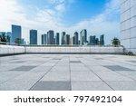 modern buildings and empty... | Shutterstock . vector #797492104