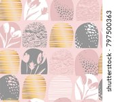 abstract floral seamless... | Shutterstock .eps vector #797500363