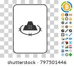prison citadel playing card... | Shutterstock .eps vector #797501446