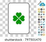 lucky clover playing card... | Shutterstock .eps vector #797501470