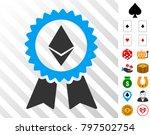 ethereum award seal pictograph...