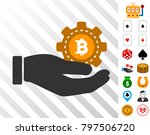 bitcoin service gear hand...