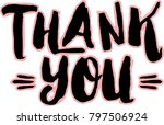 thank you hand lettering thank... | Shutterstock .eps vector #797506924