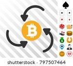 bitcoin income swirl pictograph ...