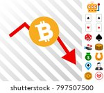 bitcoin recession chart... | Shutterstock .eps vector #797507500