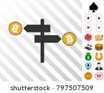 bitcoin road pointer pictograph ...