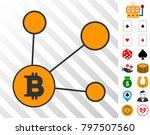 bitcoin node links pictograph... | Shutterstock .eps vector #797507560