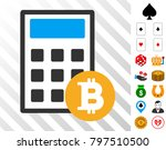 bitcoin calculator icon with...