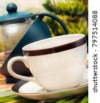 green tea cup representing... | Shutterstock . vector #797514088