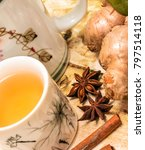 chinese ginger tea representing ... | Shutterstock . vector #797514118