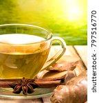 tea on patio representing... | Shutterstock . vector #797516770
