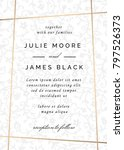 vintage wedding invitation... | Shutterstock .eps vector #797526373