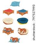 Stock vector dog bed vector 797527993